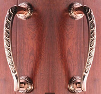 300mm High Quality Luxury Door Hanldles Bronze Wood Door Glass Door Pulls Antique Zinc Alloy Ktv