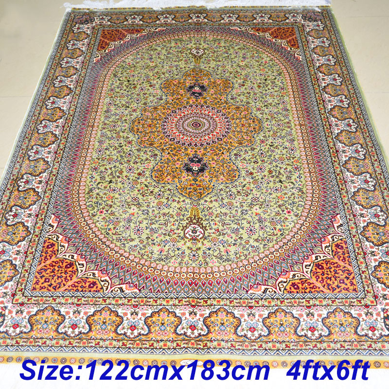 Mingxin 4x6 Feet Handknotted Sunflower Persian Carpet Prayer Rug China Silk Carpets For Home Area Rugs