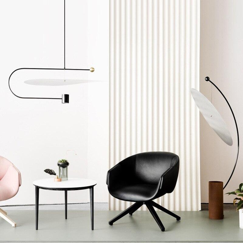 Image 3 - Post modern Minimalist Led Pendant Light Concise Designer Restaurant Dining Room Studio Suspension Light Fixtures Free Shipping-in Pendant Lights from Lights & Lighting