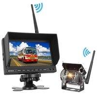 Тыквы 7 ''ЖК дисплей TFT монитор автомобиля для заднего вида Камера Парковка Резервное копирование Обратный монитор Ночное видение Беспровод