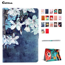 T5 10 PU Leather Case Cover Slim Print Shockproof Protective Stand For Huawei MediaPad 10.1 Smart Sleep Tablet Skin Fundas