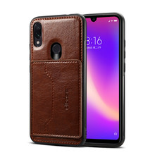 Magnetic Car Holder Leather Case For Xiaomi Redmi Note 7 Xia