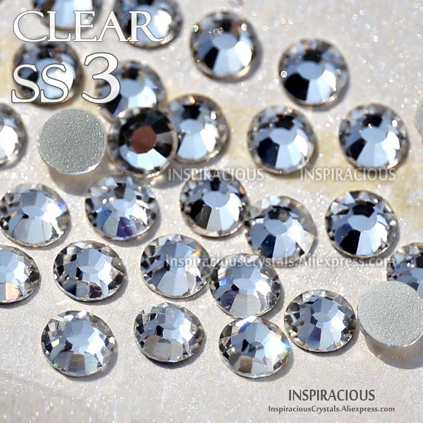 Aliexpress Com Buy 1440pcs Gold Bottom Crystal Clear: SS3 1.4mm 1440Pcs/Bag Clear Rhinestone For Nail Art