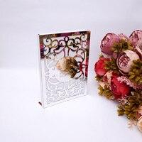 Пользовательская Свадебная книга для подписей посетителей Белая пустая страниц персонализированные Открытое платье в клетку на фоне книг ...