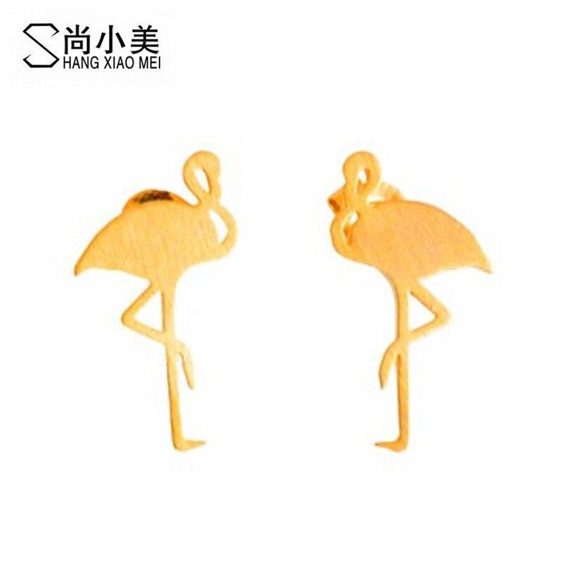 mulheres jóias brincos moda artesanal belo animal pássaro flamingo