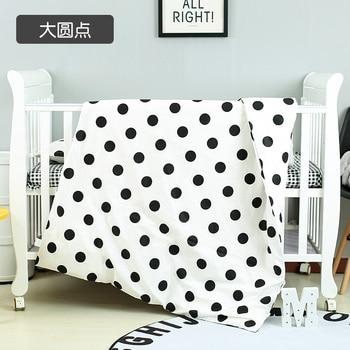 With Filling Black Dot Baby Bedding Set Crib Set ropa de cuna Quilt Sets in Crib Girl Boy de berco de bebe,Duvet /Sheet/Pillow