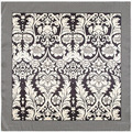 90 cm * 90 cm nuevas flores de marañón bufanda blanco y negro de la señora de la bufanda de seda toalla