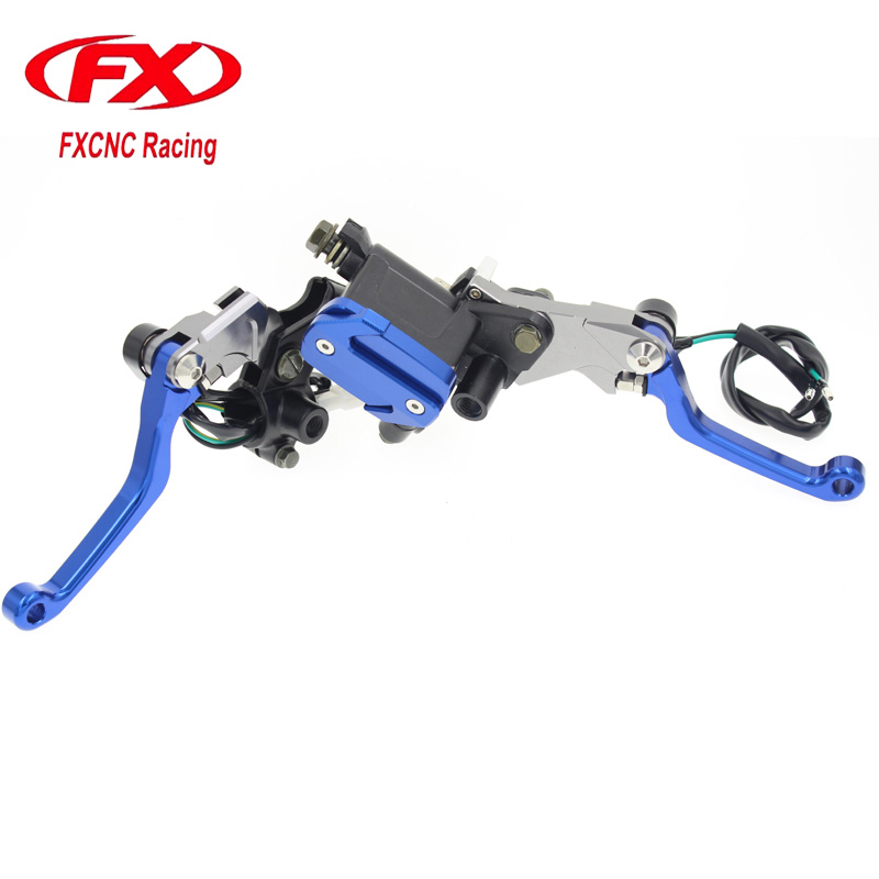 FX Motorcycle Hydraulic Master Cylinder Brake Cable Clutch Levers For HONDA CRF125F CRF150R CRF250R CRF450R CRF250X CRF450X ahl motorcycle brake front pads for honda crf 150 230 250 450 motorbike parts fa185 crf 230 f l m 08 15