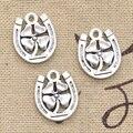 8pcs Charms horseshoe lucky clover 18x15mm Antique Making pendant fit,Vintage Tibetan Silver,DIY bracelet necklace