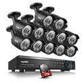 Sannce 16ch hd 1080 p hdmi dvr 2 tb hdd cctv em/ao ar livre sistema de câmera de segurança em casa