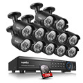 Sannce 16ch hd 1080 p hdmi dvr de 2 tb hdd cctv in/outdoor home security camera system