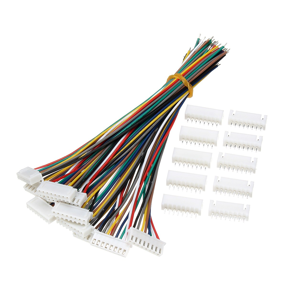 10 sets mini micro jst xh2 54mm 8 pin connector plug with wires 8 pin wiring [ 1200 x 1200 Pixel ]