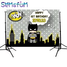 Sxy107b Del Fumetto Batman Fondali Personalizzato Bambini Di Compleanno Photocall Notte Super Hero Sfondi Per Foto In Studio 220x150cm