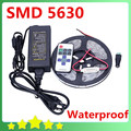 Waterproof SMD 5630 LED Strip 5M/300LEDs+12V 6A Transformer+ Wireless RF Controller Warm White Cool White Free Shipping
