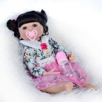 22 inches waterproof Doll Reborn Babies Silicone vinyl skin Lifelike Baby bath Toys For Girls DOLLMAI bebe Reborn Boencas gift