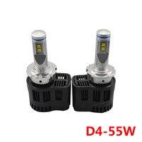 2pcs Lot Car LED Front Headlights 110W P6 D4 10400LM 3000K 4000K 5000K 6000K Bulb MZ