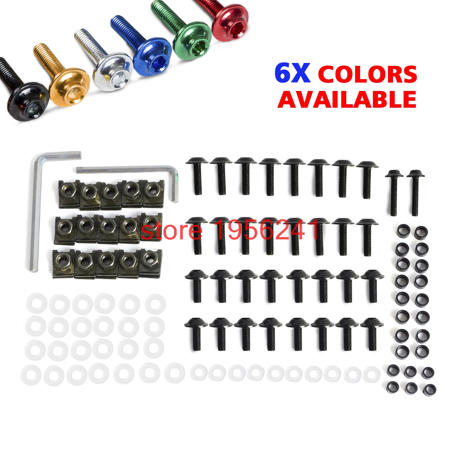 Aluminum Motorcycle Fairing Bolt Bolts Kit Fastener Clips Screw For Yamaha YZFR1 YZF-R1 2002 2003 YZF R1 NEW