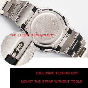 Image 2 - 316l pulseira de aço inoxidável moldura/caso dw5600 GW M5610 pulseira de metal aço cinto ferramentas para masculino/feminino presente relógio banda gw b5600
