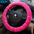 High Quality Pure Wool Soft Warm Plush Winter Car Steering Wheel Cover Universal Fur Anti-slip Auto Supplies styling Accessories