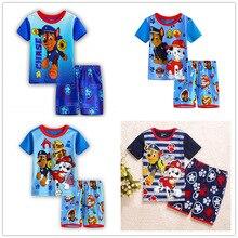 Купить с кэшбэком 6 design 2-7T boy clothes summer children's home service cartoon suit cartoon pajamas Baby boys  Short cotton home service set