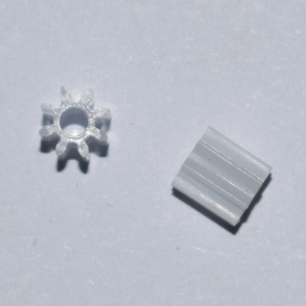 """10/100/1000 pcs קוטר 5 מ""""מ/2mm חור/8 שן 0.5 מודולוס פלסטיק מנוע ציוד/ציוד שלוחה/DIY צעצועי חלק/טכנולוגיה דגם חלקי/82A"""