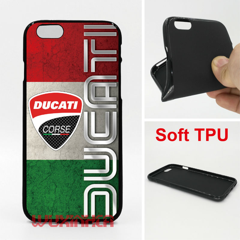 Ducati Corse Phone Cases Soft TPU For iPhone 6 7 Plus SE 5S 4S Touch 6 For Samsung Galaxy S8 Plus S7 S6 Edge S4 S5 Note 5 4 G530