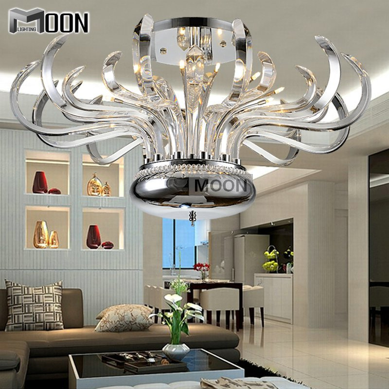 Foral Pure Crystal Chandelier Lights Luxurious Modern