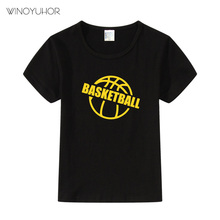 Boys Short Sleeve T Shirts For Children Basketball T-shirt Cotton 2-12 Year Kids Clothing Baby Girls Tops Tees Clothes t shirts frutto rosso for girls and boys sm117k021 top kids t shirt baby clothing tops children clothes