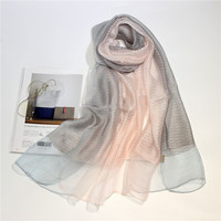 Fashion Bandana Luxury Black And White Pink Scarve Woman Brand Silk Scarf Women Shawl High Quality