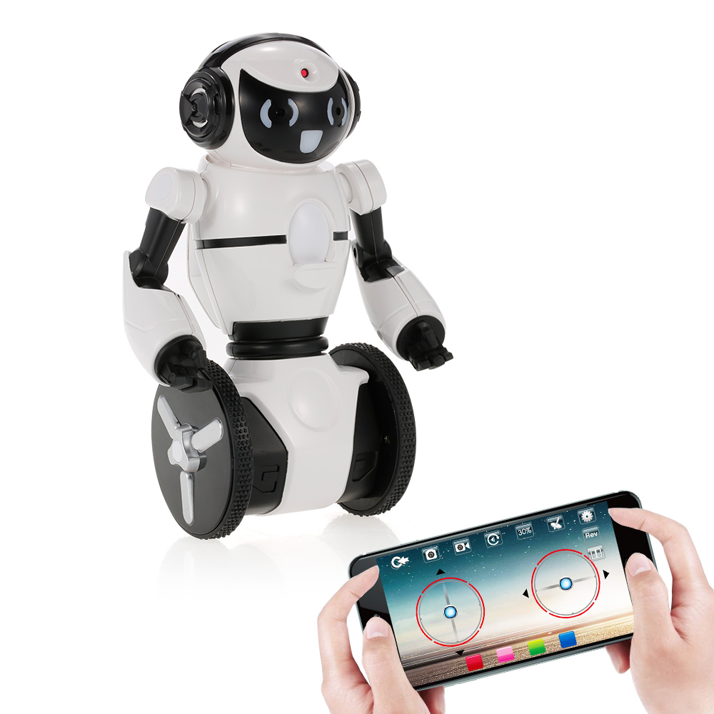 Smart RC Robot F4 0.3MP Camera Wifi FPV APP Control Intelligent G-sensor Robot Car Electronic Toys Gift for Children Kids (1)