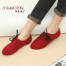 2016 Hot Selling Spring Casual Women Shoes Women cotton fabric lace-Up Flat Shoes Handsome Head Toe Shoes