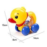 Baby Rammelaars Pull touw Eend Dieren Hand Jingle Schudden Bel Auto Rammelaars Speelgoed Muziek Tafelbel voor Kids 1