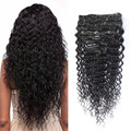 70G/120G/220G 7PCS/10PCS Full Head Clip In Human Hair Extensions Deep Wave Clip In Hair Extensions Brazilian Virgin Hair Clip In