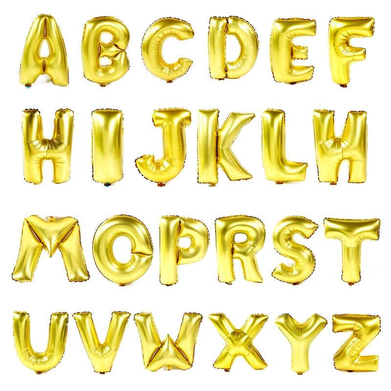 40 นิ้วตัวอักษร A-Z ลูกโป่งทองอากาศหลักบอลลูนเด็กปาร์ตี้วันเกิดของแบนเนอร์ตกแต่งงานแต่งงาน B Allon พรรคซัพพลาย