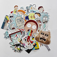 TD ZW 2019 35Pcs/lot American Drama Rick and Morty Stickers Decal For Snowboard Luggage Car Fridge Car- Styling Laptop Stickers(China)