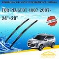 """Limpiaparabrisas Para PEUGEOT 4007 (2007-) 2008 2009 2010 2011 2012 2013 14 Coche Parabrisas Rascador 24 """"+ 20"""" estilo coches"""