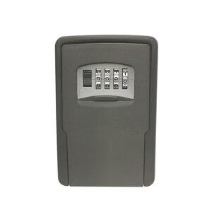 Image 1 - מפתח אחסון מנעול תיבת קיר רכוב מפתח מנעול תיבת עבור בית מפתחות רכב מפתחות לבית משרד עם 4 שילוב ספרות