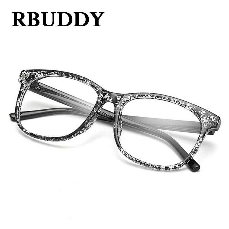 6c7ad6b5f5 RBUDDY Women Eyeglasses Brand Designer Square Frame Gradient Women Optical  Clear Len Glasses Unisex Eyeglasses Frames For Men-in Eyewear Frames from  Apparel ...