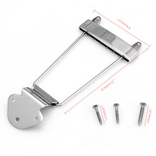 Chrome Guitar Tailpiece Trapeze Open Frame Bridge for 6 String Archtop Guitar