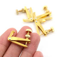 4pcs/lot Golden Plated Violin String Tuner Fine Tuner Adjuster Parts Fit 3/4 - 4/4 Violin Parts Accessories