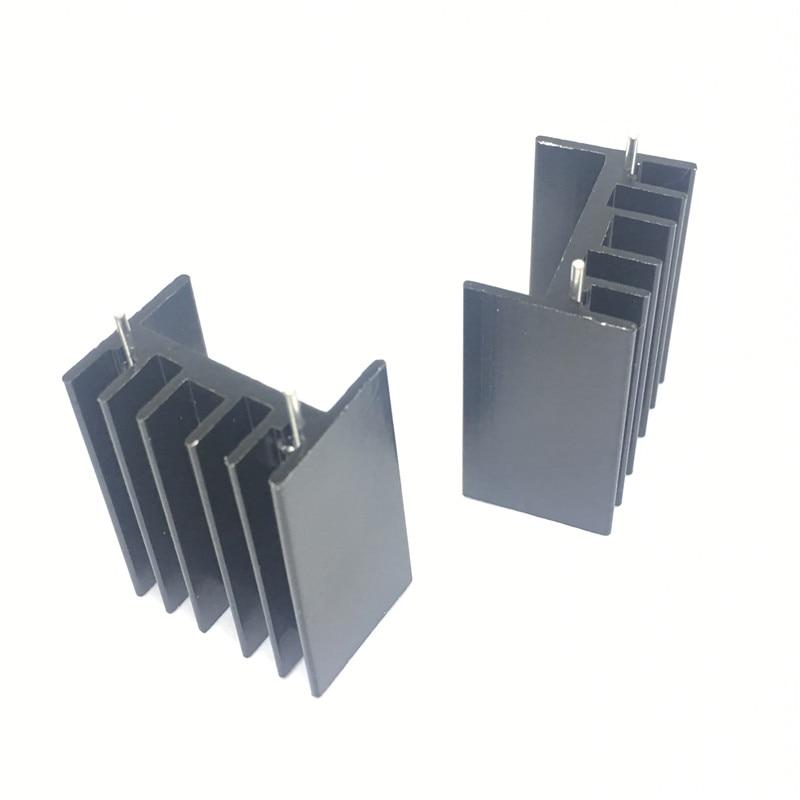 10 шт. 25*23*16 мм до 220 Триод теплоотвод TO220 транзистор алюминиевый радиатор теплоотвод с 2Pin|Соединители|   | АлиЭкспресс