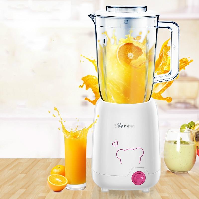 Bear Portable Multi Fruit Juicer Machine 0.8L Mini Fruit and Vegetable Grinders Blenders Mixer Kitchen Aid