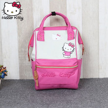 Hello Kitty Bag Children's Cartoon Fashion Christmas Baby KT Pink Multifunctional Backpack Boy Girl Schoolbag Shoulder Plush(China)