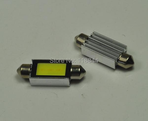 2014 New 2Pcs 42mm Festoon c10w plasma COB smd LED Canbus SV8.5 dome map trunk lights bulbs Free Shipping