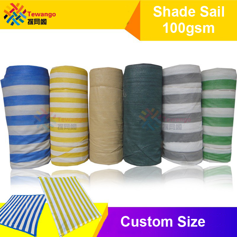Hot Sale Tewango Custom Size Sun Shade Sail Outdoor Uv Protection