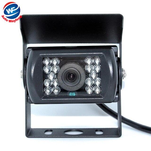 Автобус HD CCD Автомобильная Камера Заднего вида Обратный резервный Камеры заднего парковка 120 Градусов 18 ИК Ночного Видения Водонепроницаемый Автобус Грузовик камера