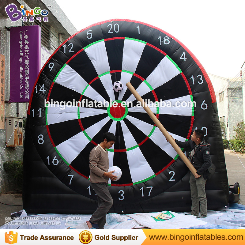 Free express 4m/13ft high inflatable dart board Giant inflatable football soccer dart board for soccer darts games outdoor toys free shipping garden park outside pvc toys inflatable 13ft bouncer trampolines high quality interative games for sale