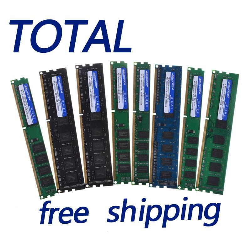 KEMBONA Desktop RAM Memory PC DESKTOP ddr3 4G 2G ram 1600mhz/1333mhz/1066mhz / PC3 10600 / Lifetime warranty / Free Shipping
