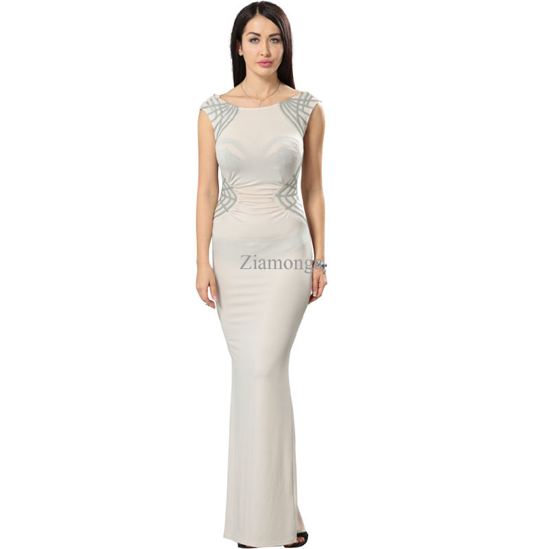 b602d62920c7b Vestidos Longo Summer Style Elegant Evening Party Dresses Women Vintage  Sequined Printed Long Dress Sexy Split Maxi Dress S2560