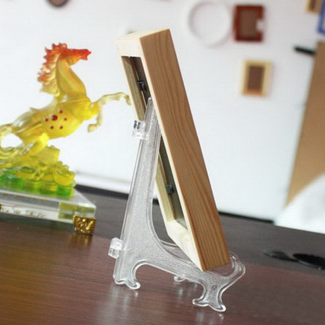 1 Piece Clear Plate Ceramic Frame Display Rack Plate Bowl Picture Frame Easel Stand Photo Pedestal & 1 Piece Clear Plate Ceramic Frame Display Rack Plate Bowl Picture ...